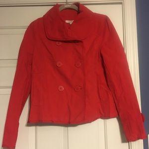 Loft red swing jacket, size S